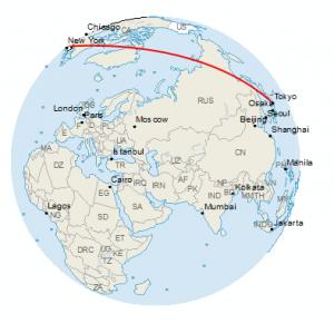 Globe: New York to Tokyo