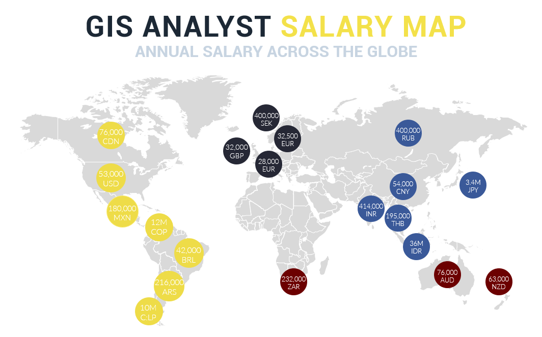 GIS Analyst Salary Map