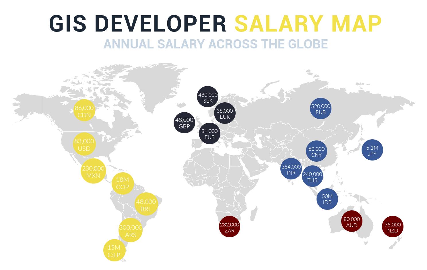 GIS Developer Salary Map