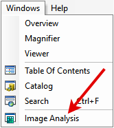 Image Analysis Toolbar