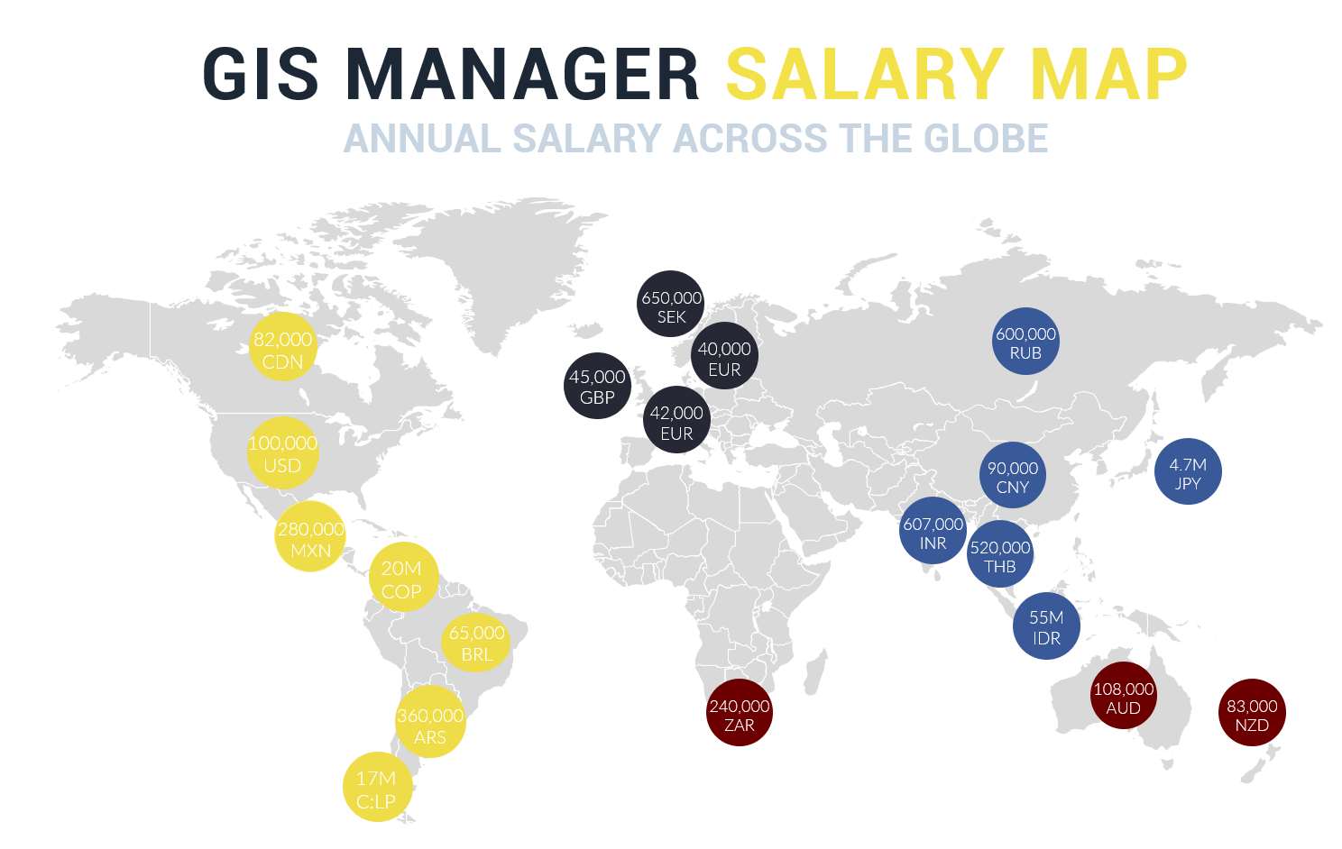 GIS Manager Salary Map