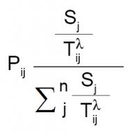 Huff Gravity Model Formula