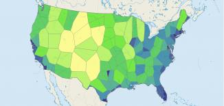 Voronoi Diagram Thiessen Polygons