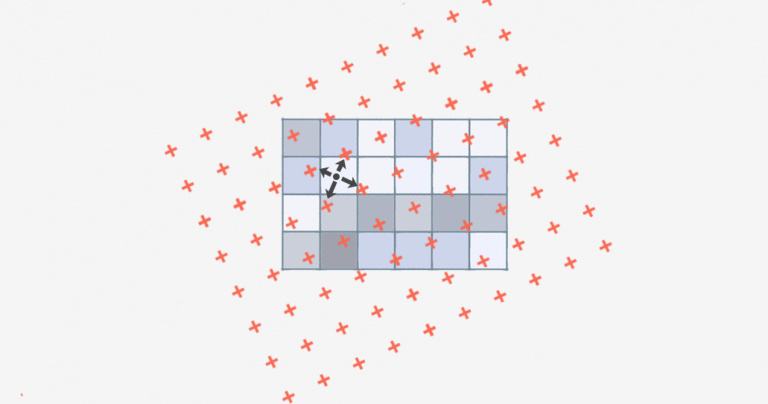 Bilinear Interpolation: Resample Image Cell Size with 4 Nearest Neighbors