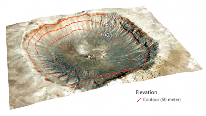 depression contour crater