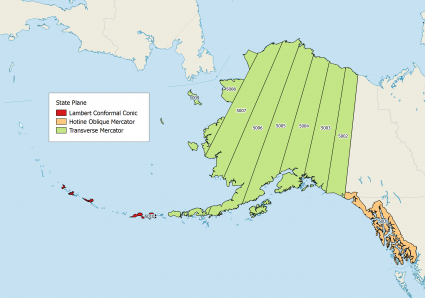 Alaska State Plane Coordinate-System Map Projections