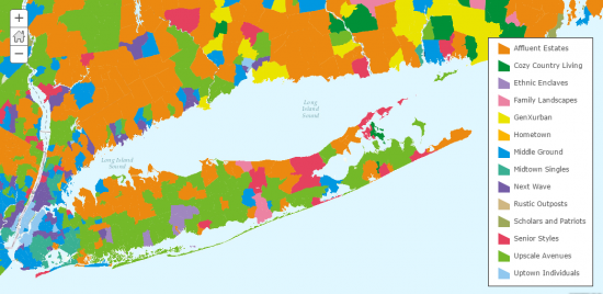 Esri Tapestry Counties
