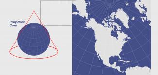 North America Lambert Conformal Conic Projection