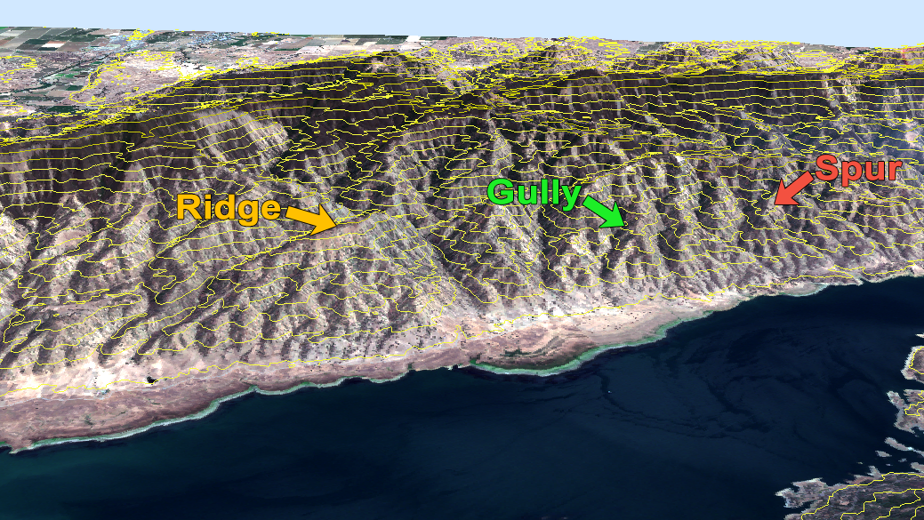 Cliff On A Topographic Map.What Do Contour Lines On A Topographic Map Show Gis Geography