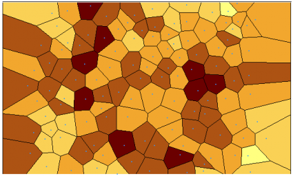 kriging voronoi entropy