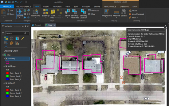 arcgis pro georeference