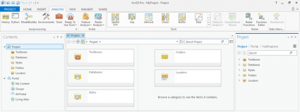 arcgis pro user interface