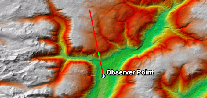 Line Of Sight Vs Viewshed Visibility Analysis Gis Geography