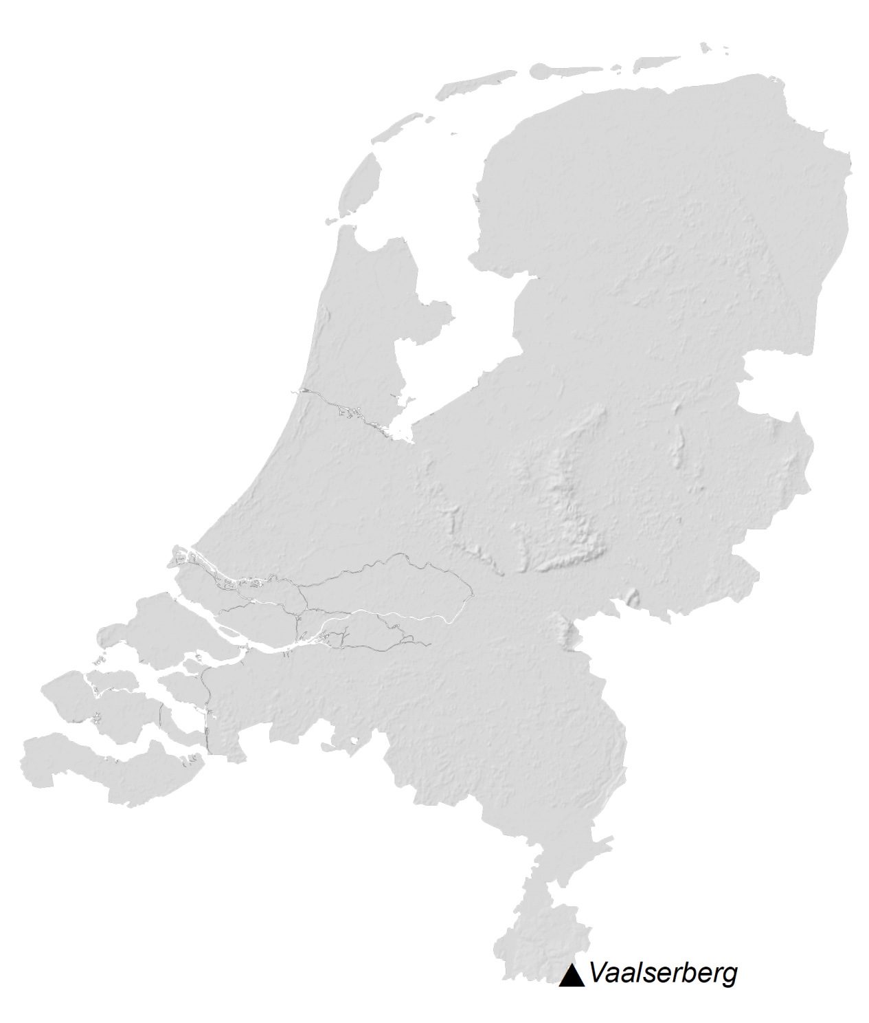 Netherlands Elevation Map