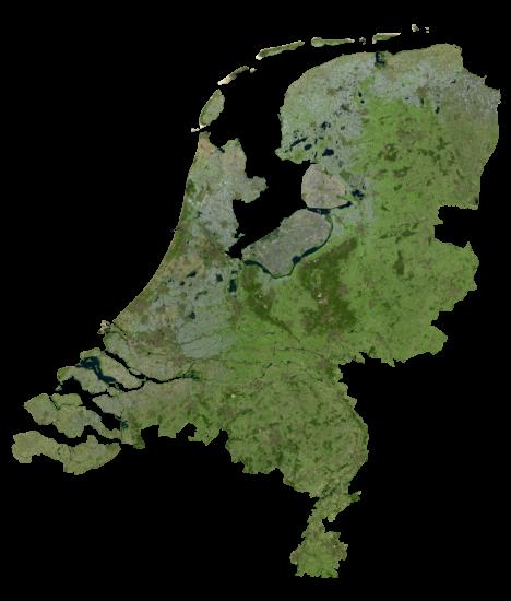 Netherlands Satellite Map