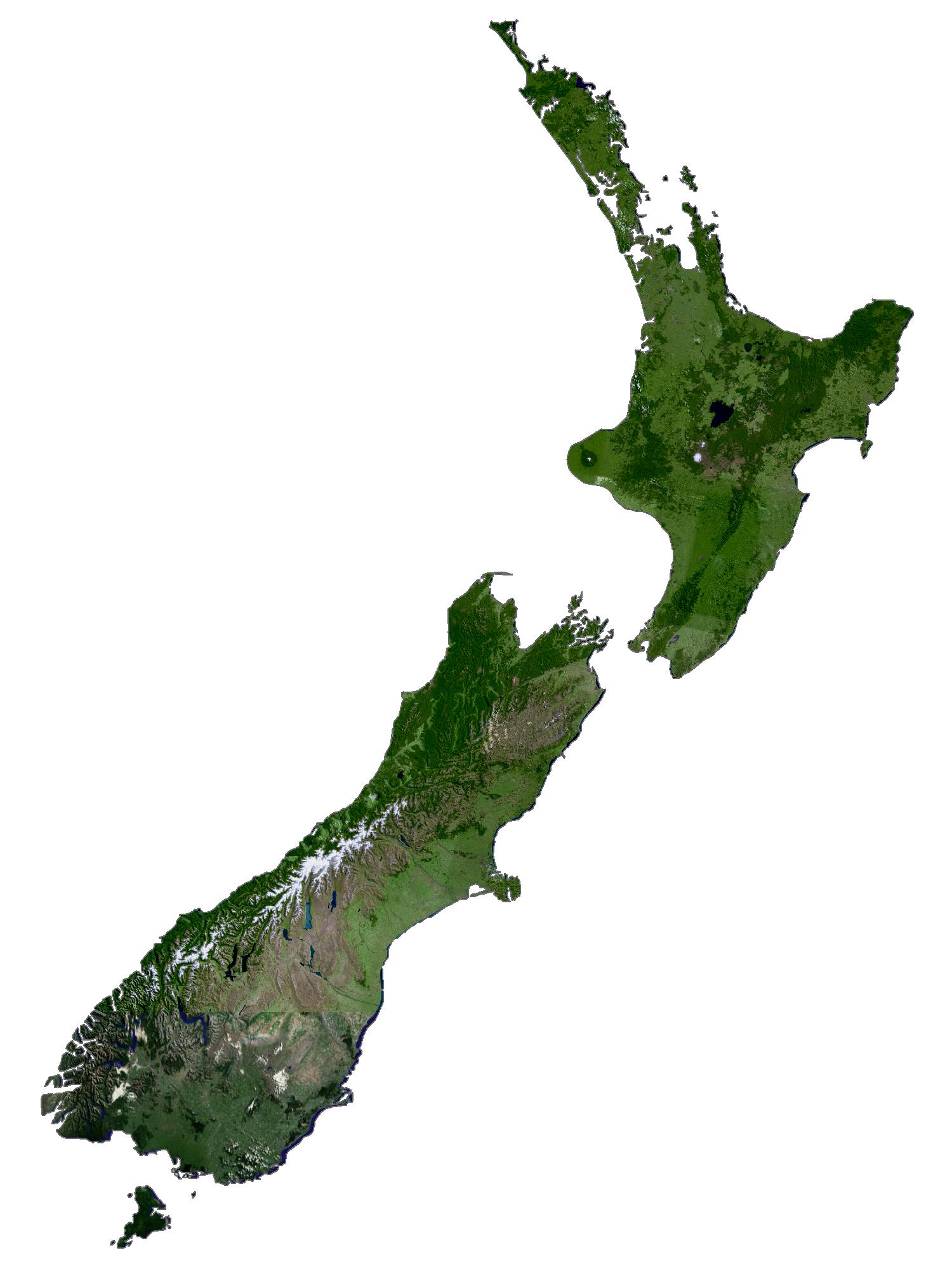 New Zealand Satellite Map