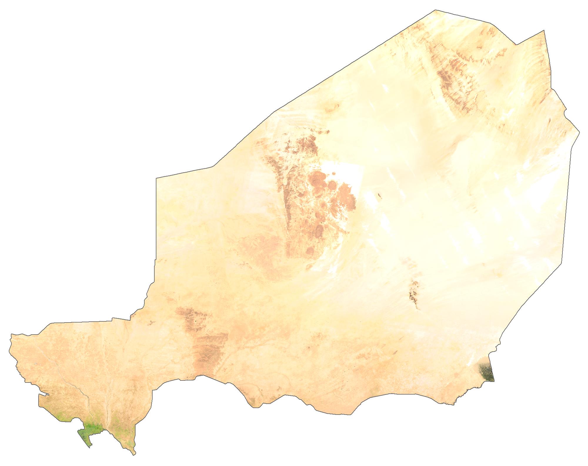 Niger Satellite Map