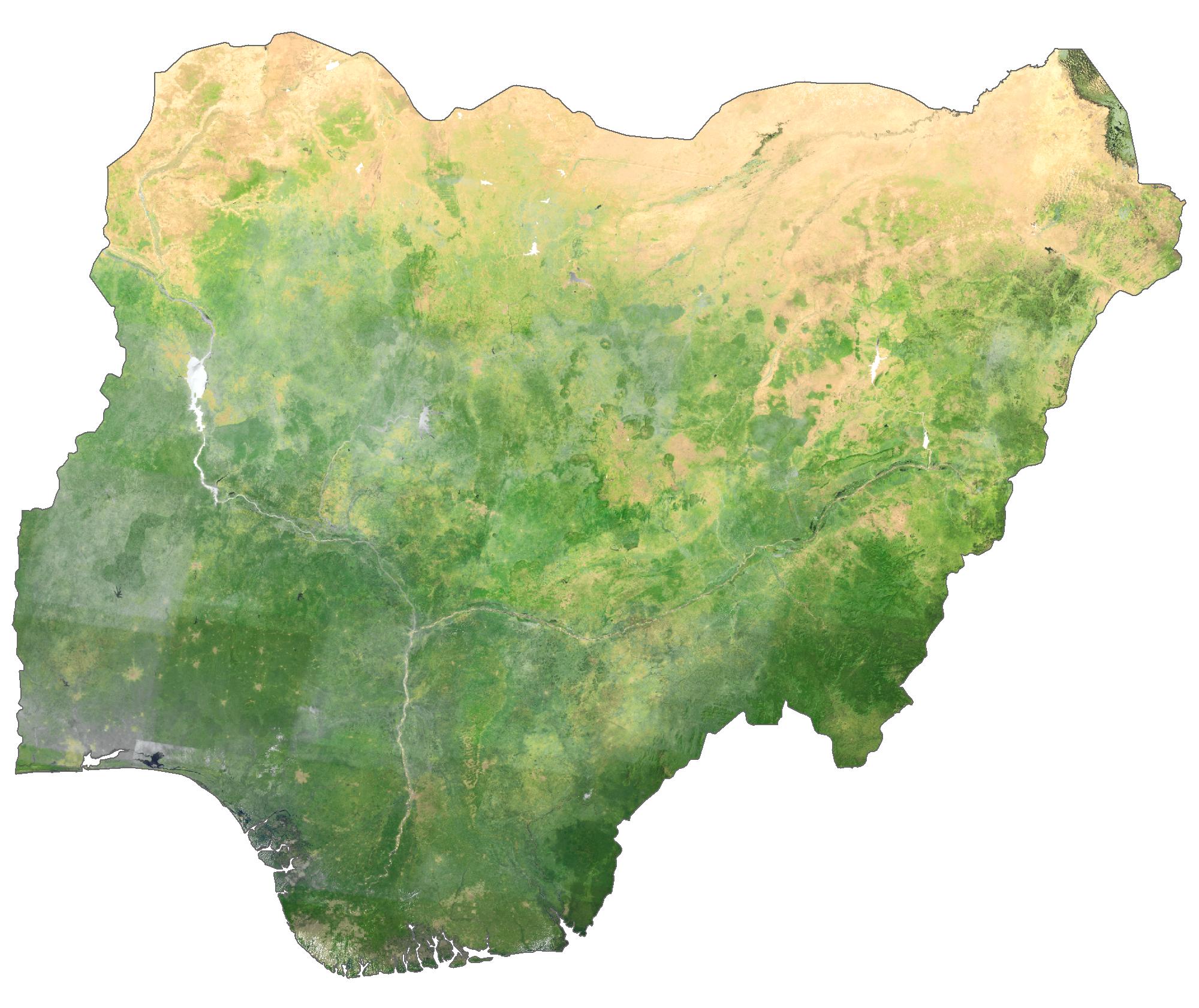 Nigeria Satellite Map