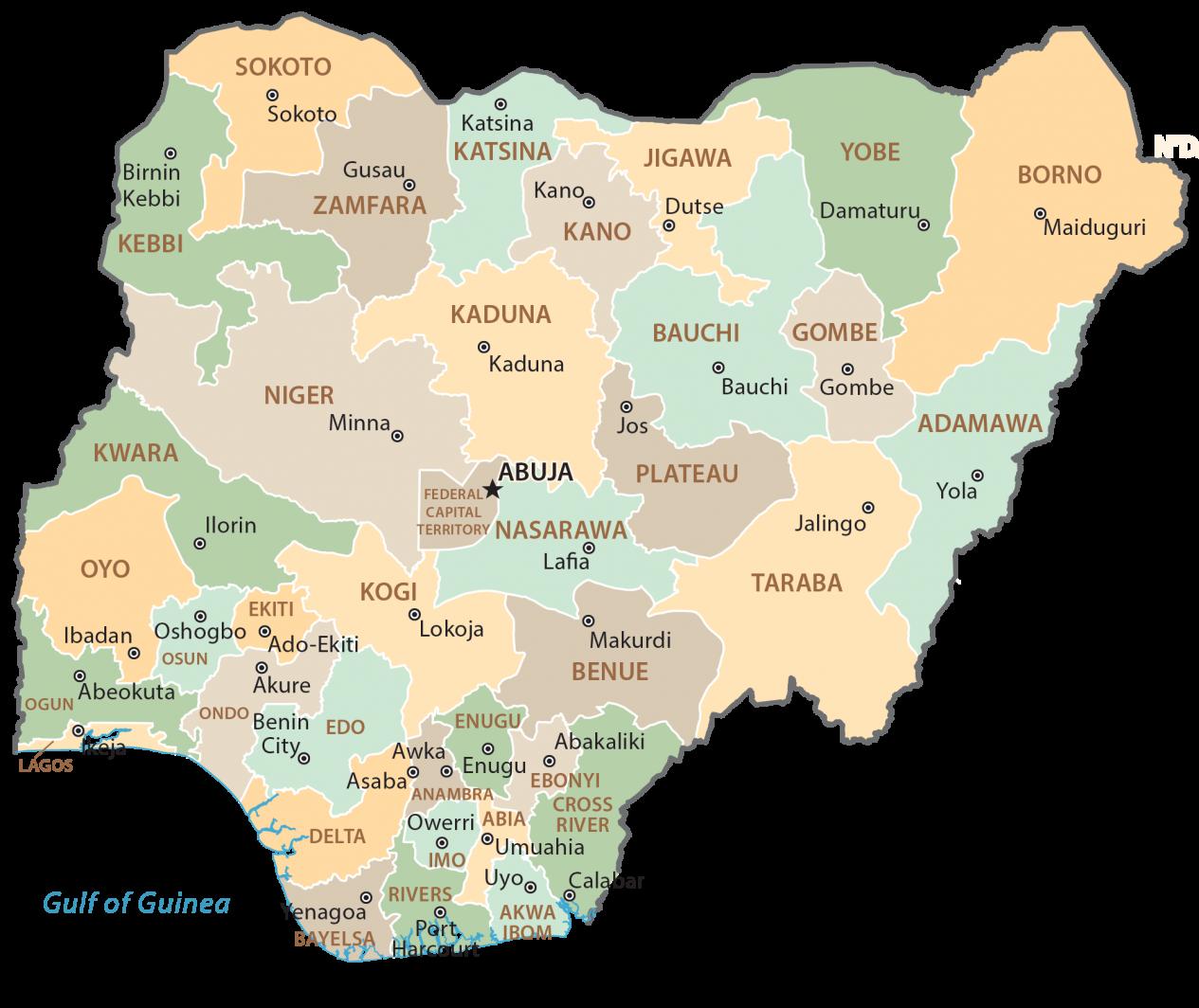 Nigeria State Map