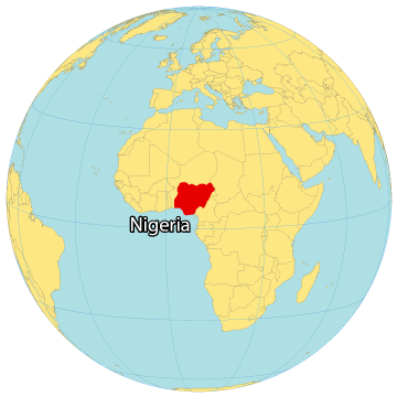 Nigeria World Map