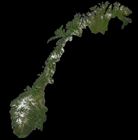 Norway Satellite Map