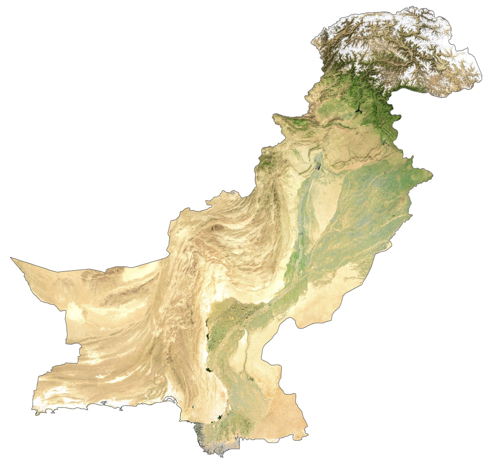 Pakistan Satellite Map