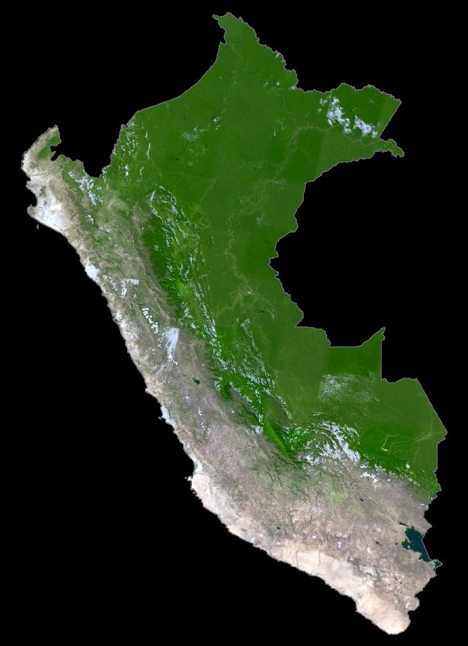 Peru Satellite Map