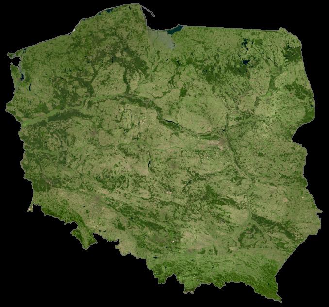 Poland Satellite Map