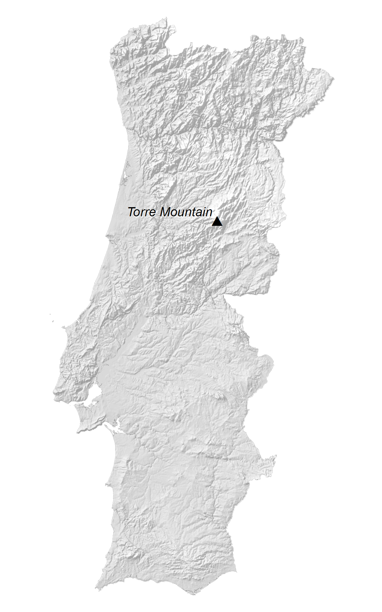 Portugal Elevation Map