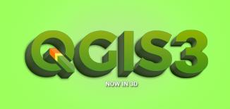 QGIS 3 3D Logo