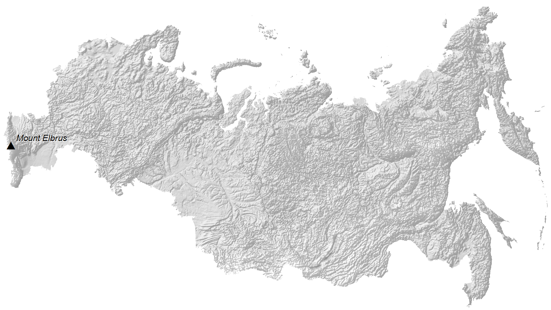Russia Elevation Map