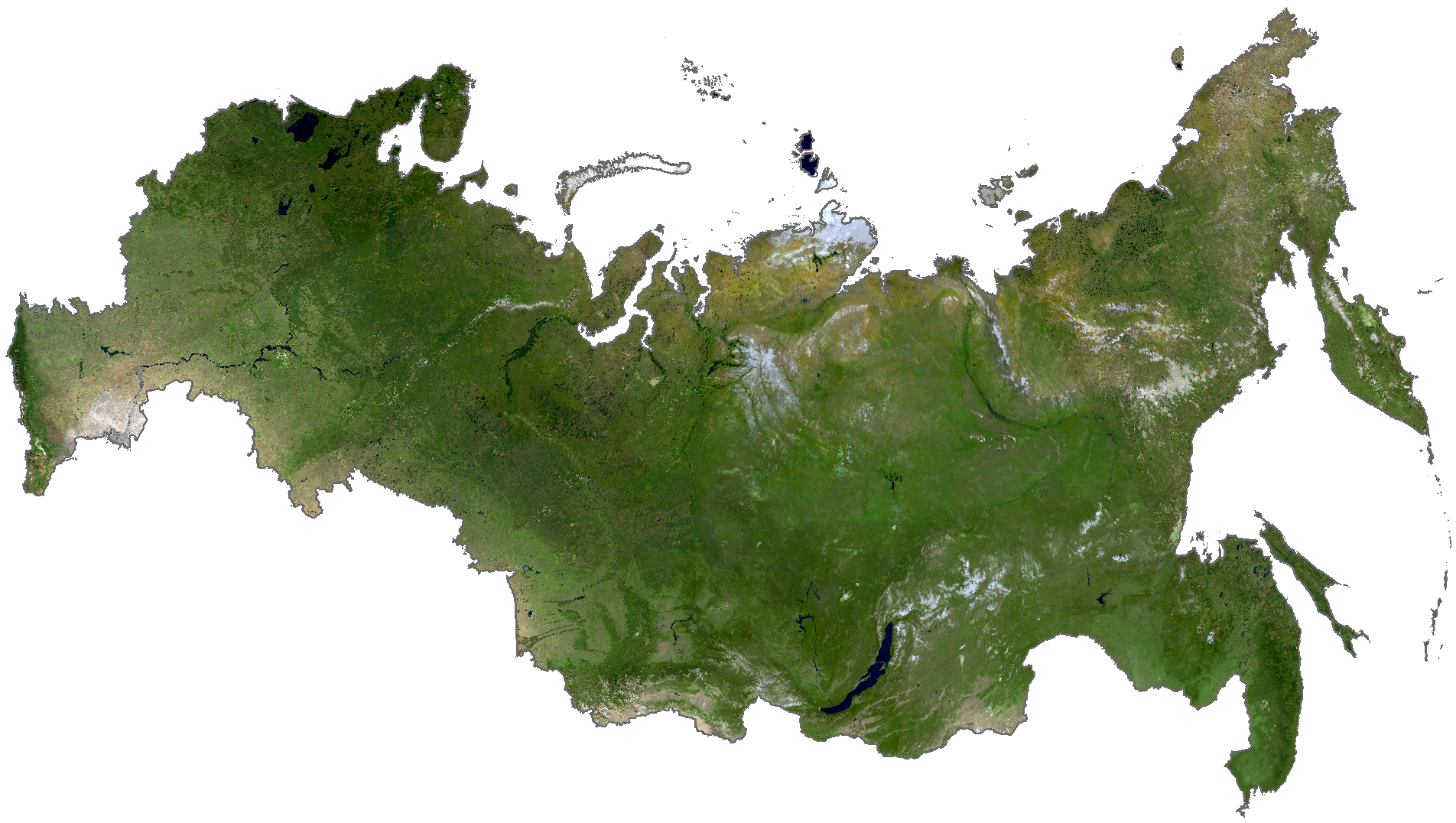 Russia Satellite Map