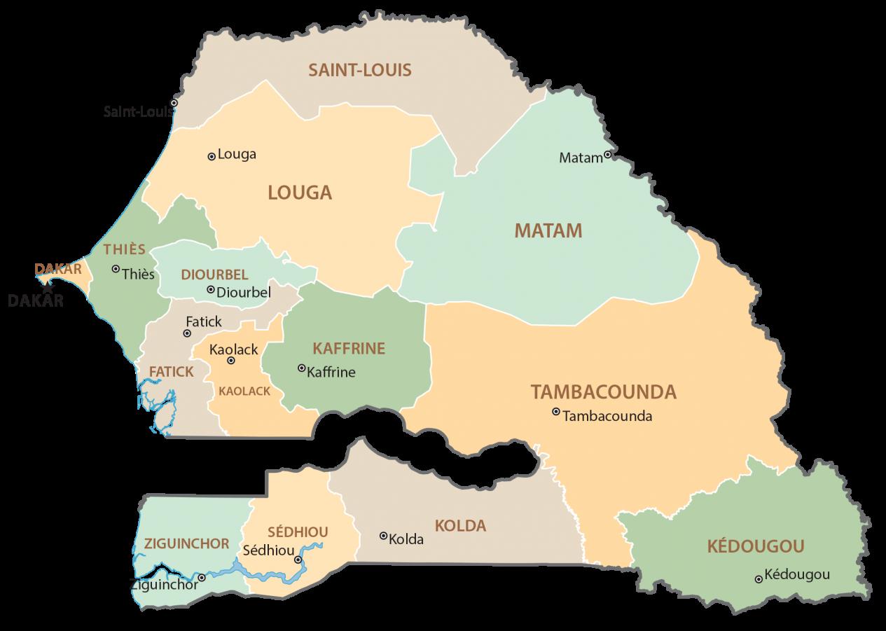 Senegal Regions Map