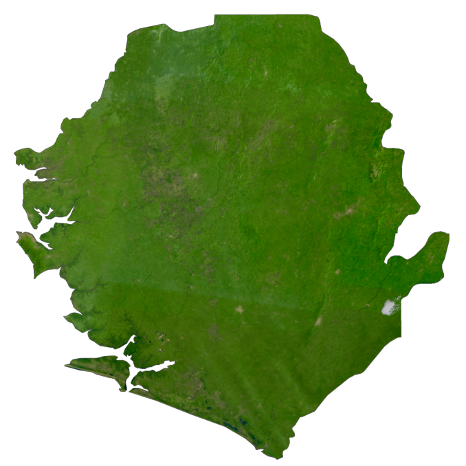 Sierra Leone Satellite Map