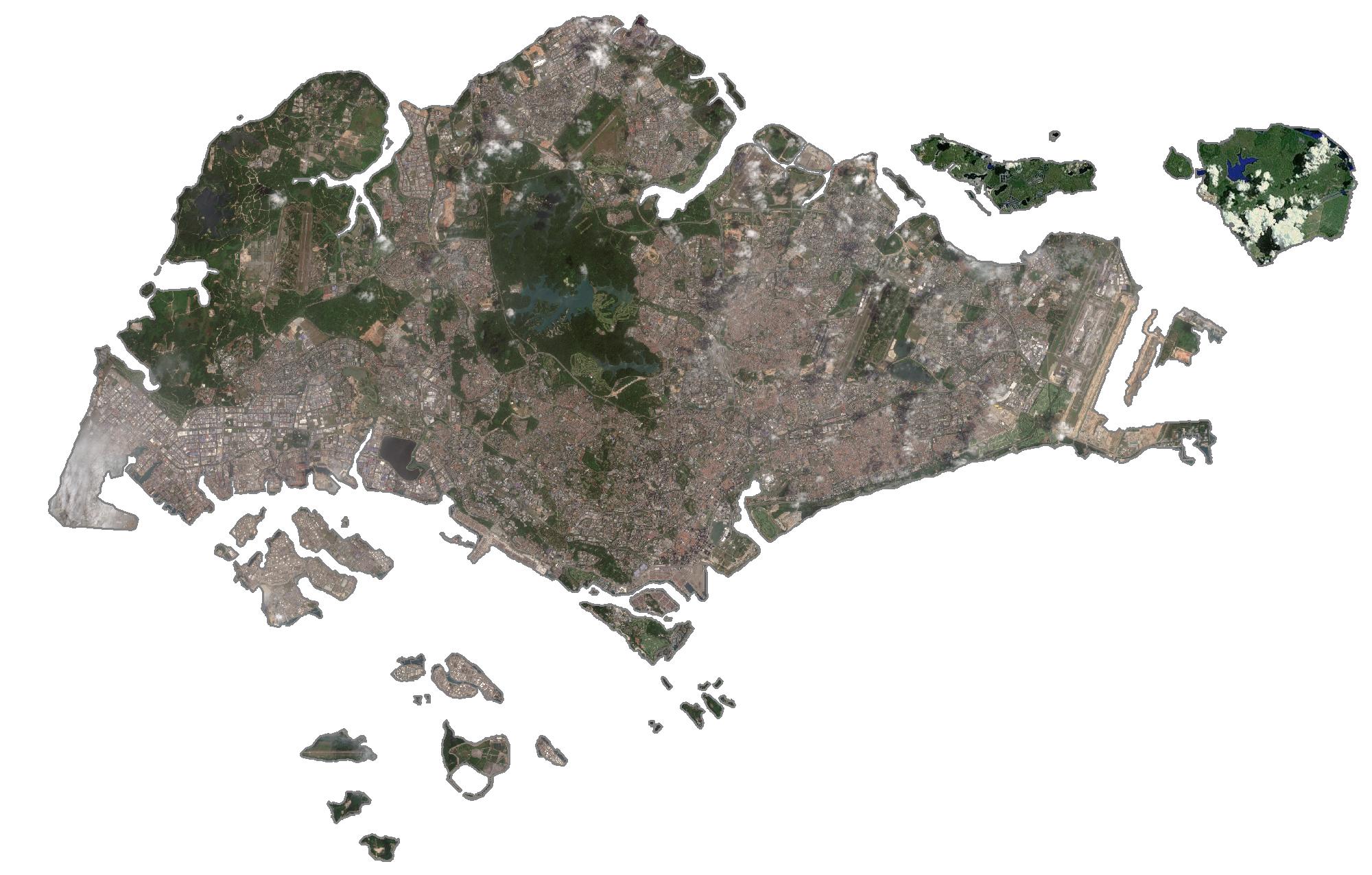 Singapore Satellite Map