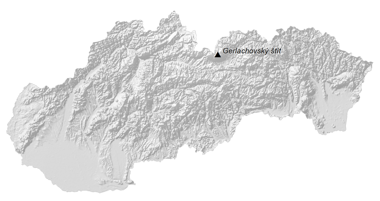 Slovakia Elevation Map