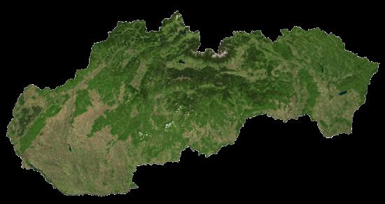 Slovakia Satellite Map