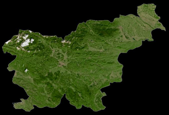 Slovenia Satellite Map