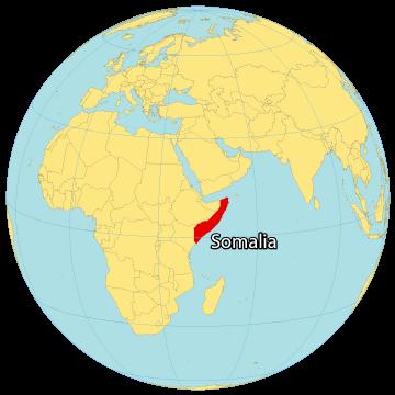 Somalia World Map