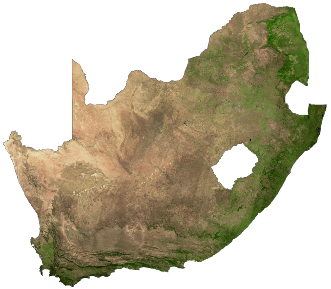 South Africa Satellite Map