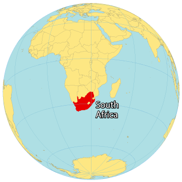 South Africa World Map