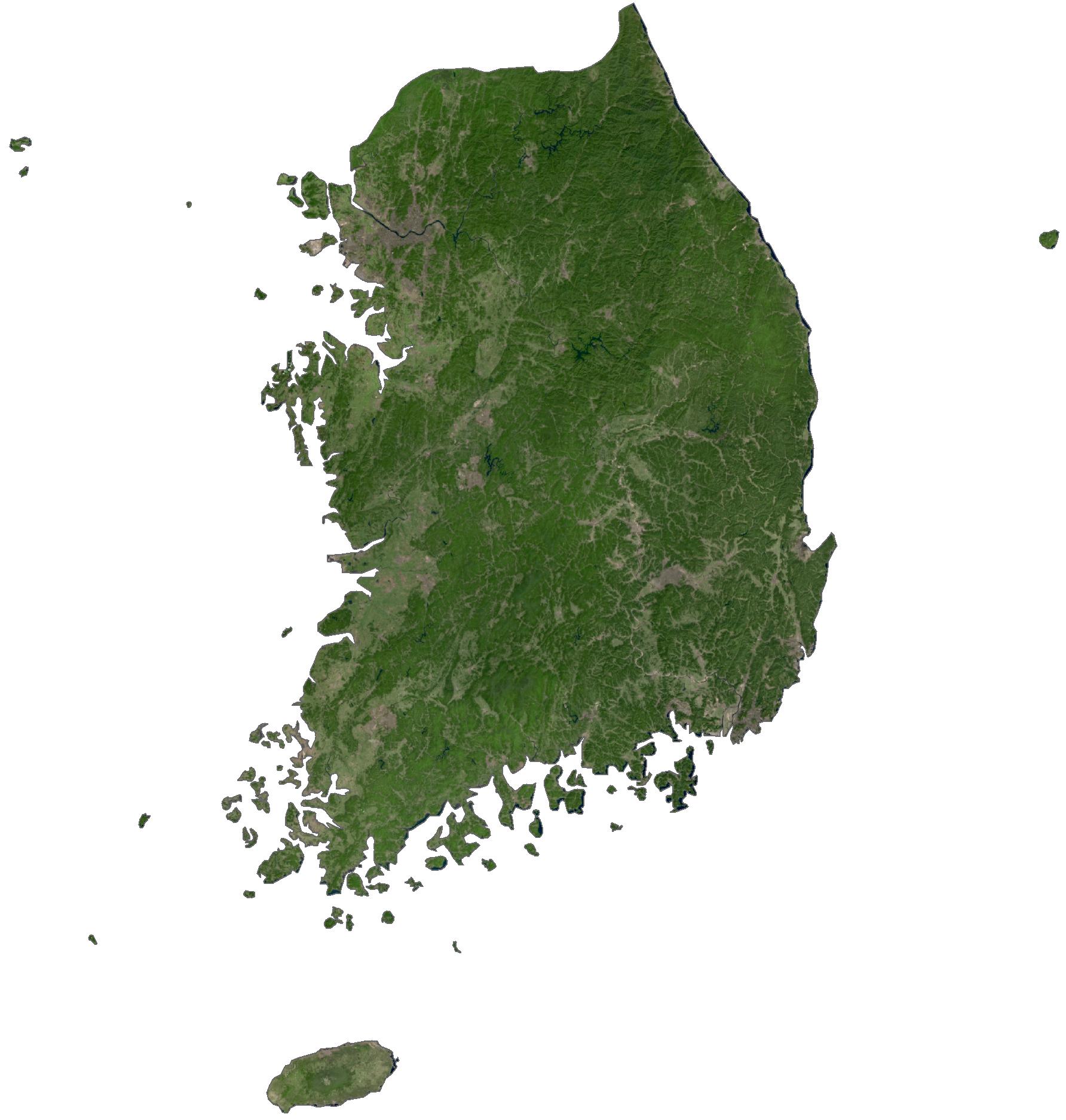 South Korea Satellite Map