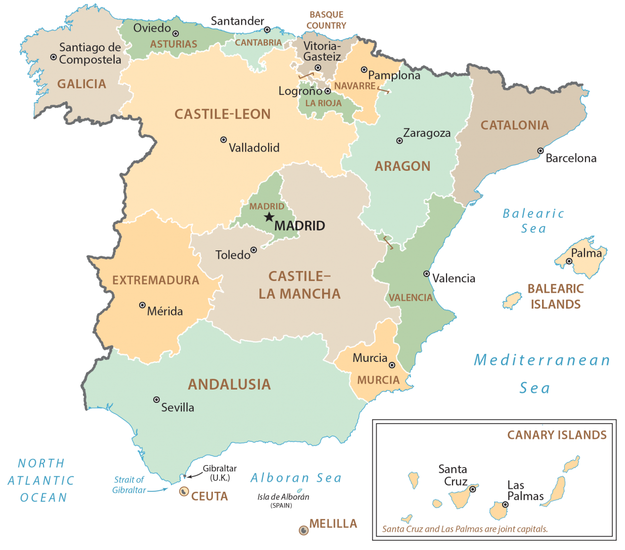 Spain Administrative Map