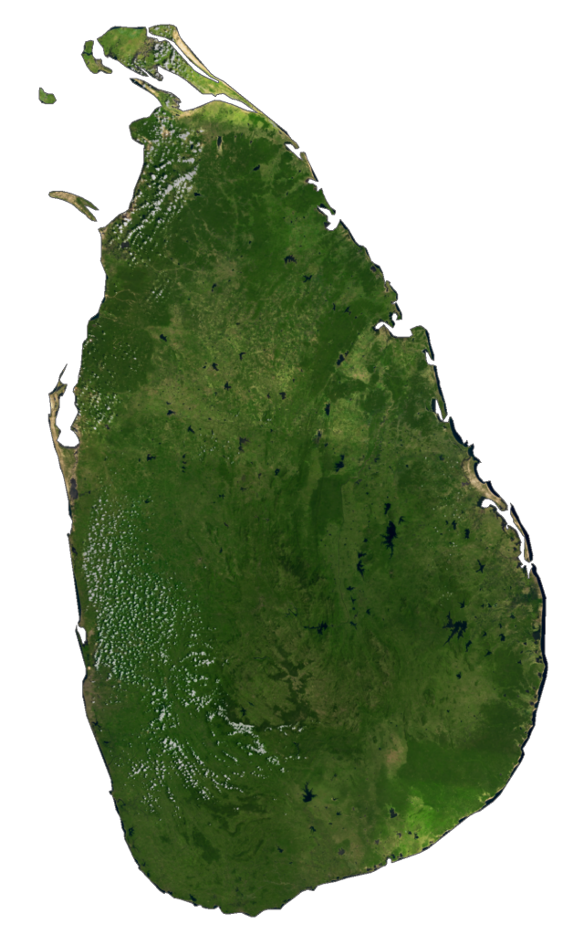 Sri Lanka Satellite Map