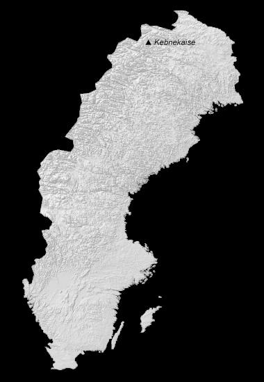 Sweden Elevation Map