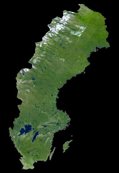 Sweden Satellite Map