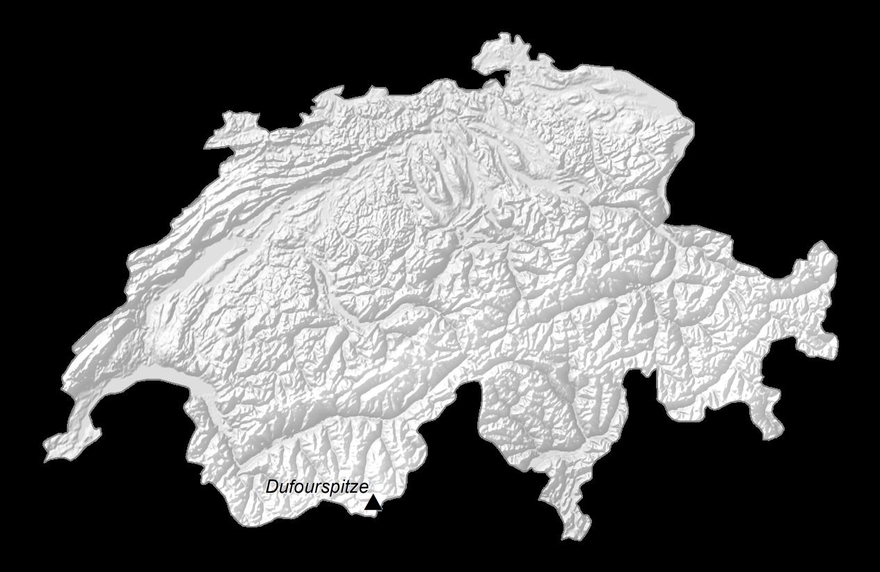 Switzerland Elevation Map