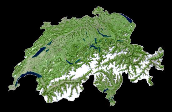 Switzerland Satellite Map