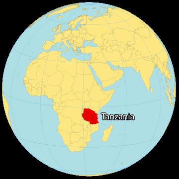 Tanzania World Map