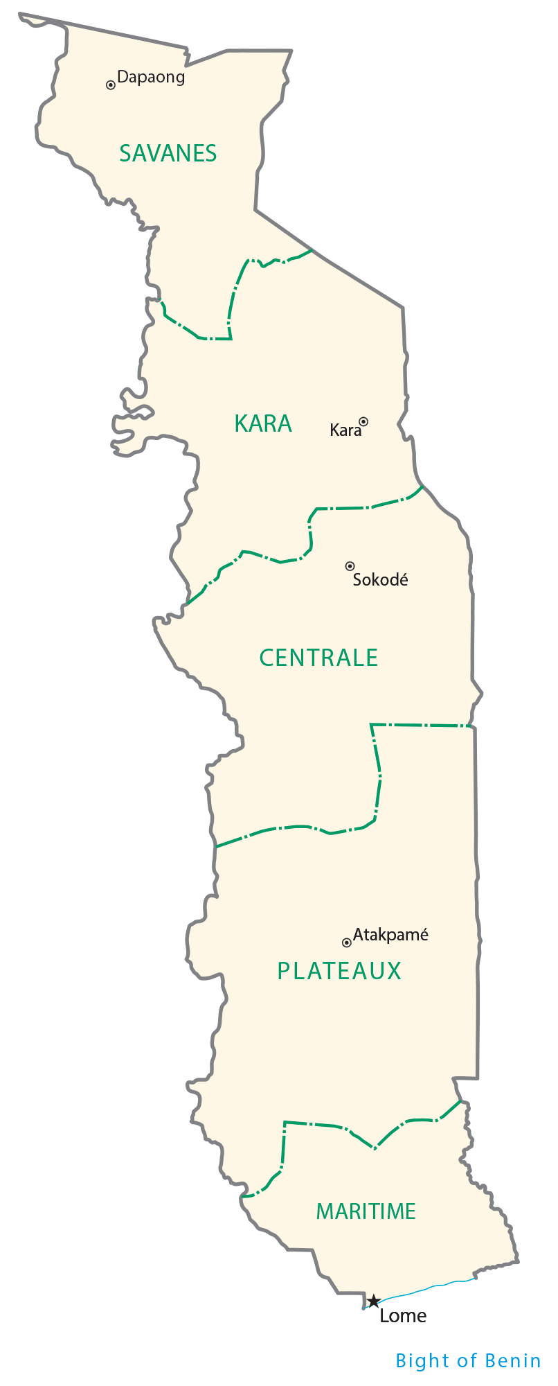 Togo Regions Map